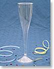 CLASSICWARE� PLASTIC CHAMPAGNE GLASSES / PLASTIC CHAMPAGNE FLUTES - 1 PIECE - 5 oz. (148 ml) CWSC5