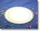 MASTERPIECE PLASTIC DINNER PLATES 10.25 IN. - GOLD COLLECTION MP10IPREM
