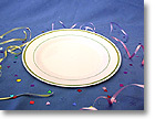 7.5 IN. MASTERPIECE HORS D'OEUVRES / DESSERT PLASTIC PLATES - GOLD COLLECTION MP75IPREM