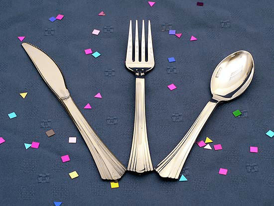 REFLECTIONS 7 IN. PLASTIC SILVER FORKS #610155