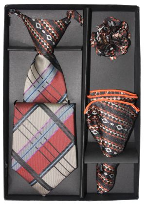 5 Second Tie Set with Design- 5ST-17046 5ST-17046