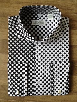 Polka Dot Shirt  Black/White & White/Black DUS68PolkaDotShirt