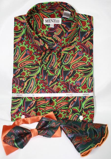 Shirt-Bowtie-Combo-GS-54 Shirt-Bowtie-Combo-GS-54