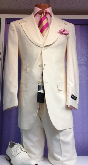 Menz Classic Suits - Cream MCS-008-Cream