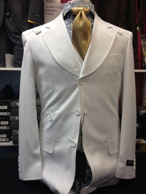 Menz Classic Suits White MCS-008-WHITE
