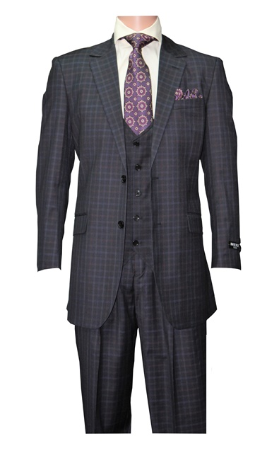 Classic 16 Navy Plaid Suit  #Classic16NavyPlaid