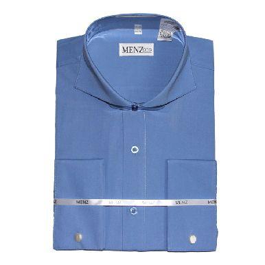 Cutaway Collar Shirts-French Blue SC002-cutawaysolid