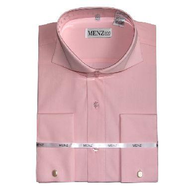 Cutaway Collar Shirts-Pink SC003-cutawaysolid