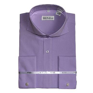 Cutaway Collar Shirts-Lavendar SC005-cutawaysolid