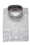 Cutaway Collar Shirts-White SC006-cutawaysolid