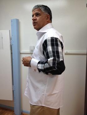 Elbow Patch Shirt  White/Black Elbowpatchwhiteblack