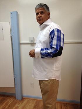 Elbow Patch Shirt  White/Blue Elbowpatchwhiteblue