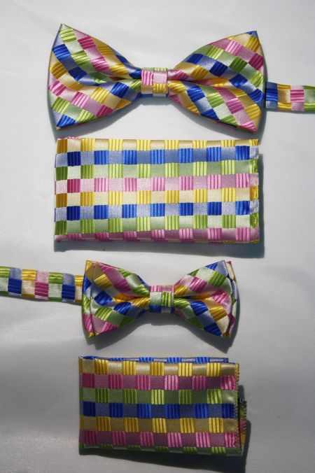 Father and Son Bow Tie and Hanky -FNS-15145 FNS-15145