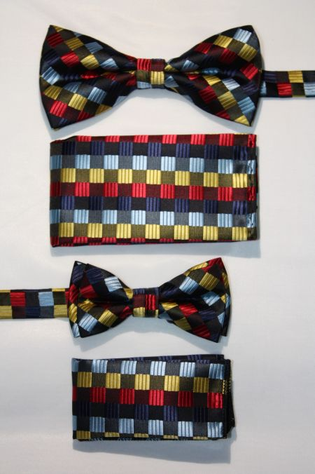 Father and Son Bow Tie and Hanky -FNS-15146 FNS-15146