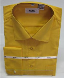 Menz French Cuff Dress Shirts-Gold gold