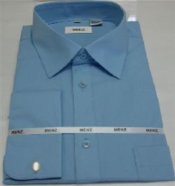 Menz French Cuff Dress Shirts-Lt Blue lt.blue
