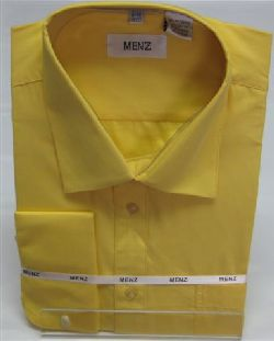 Menz French Cuff Dress Shirts-Lt Gold lt.gold