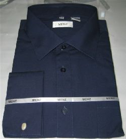 Menz French Cuff Dress Shirts-Navy navy