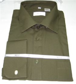 Menz French Cuff Dress Shirts-Olive olive