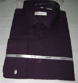 Menz French Cuff Dress Shirts-Plum plum