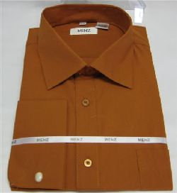 Menz French Cuff Dress Shirts-Pumpkin pumpkin