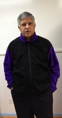 Cozy Fleece Jackets Black-Purple