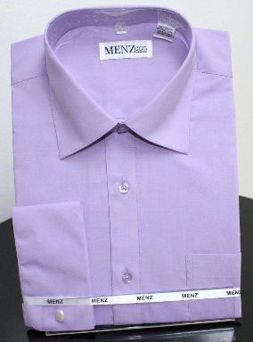 Menz French Cuff Dress Shirts-Lavender lavender