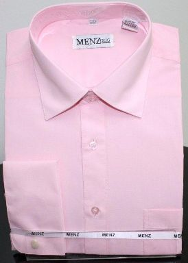 Menz French Cuff Dress Shirts-Lt Pink ltpink