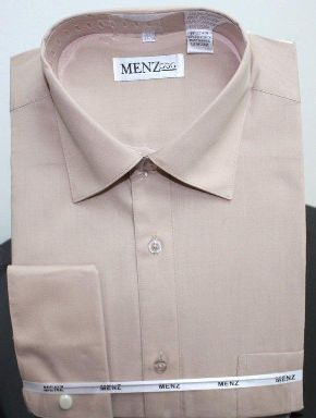 Menz French Cuff Dress Shirts-Taupe taupe