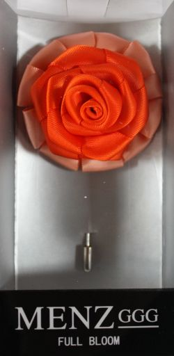 Full Bloom Lapel Flower-Melon-Orange #LFB-Melon-Orange