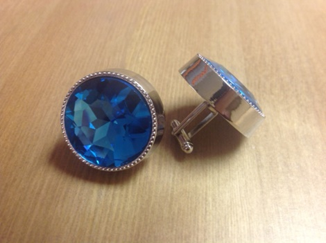 King Round Cuff Link-Turquoise KRC1-Turquoise