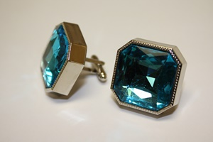 King Square Cuff Link 01-Turquoise KSC01-Turquoise