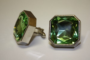 King Square Cuff Link 02-Mint KSC02-Mint