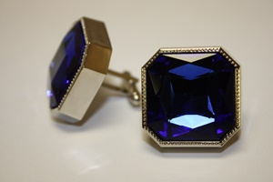 King Square Cuff Link 07-Blue KSC07-Blue