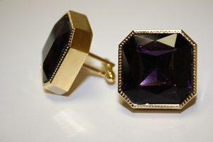 King Square Cuff Link 10-Purple KSC10-Purple