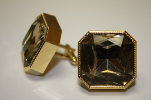 King Square Cuff Link 11-Gold KSC11-Gold