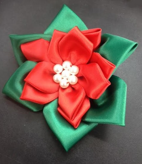 Poinsettia Lapel Flower #PLF