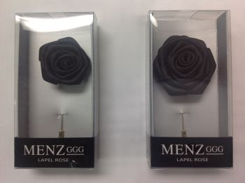 Rose Lapel Flower -Black RLFBOX-BLACK