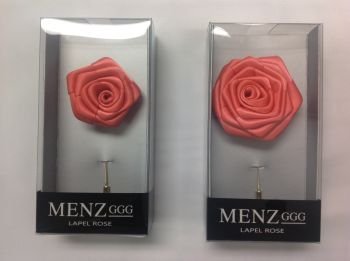 Rose Lapel Flower -Coral RLFBOX-CORAL