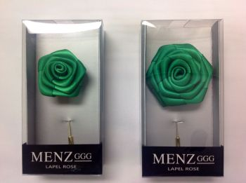 Rose Lapel Flower -Emerald #RLFBOX-EMERALD