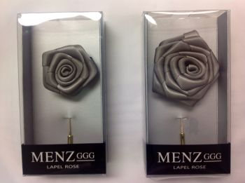 Rose Lapel Flower -Grey #RLFBOX-GREY