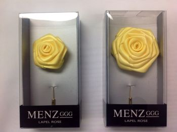 Rose Lapel Flower -Lemon RLFBOX-LEMON