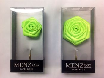 Rose Lapel Flower -Lime RLFBOX-LIME