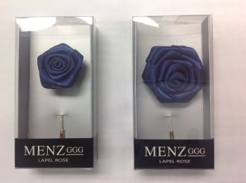 Rose Lapel Flower Navy RLFBOX-NAVY