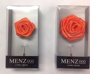 Rose Lapel Flower -Orange RLFBOX-ORANGE