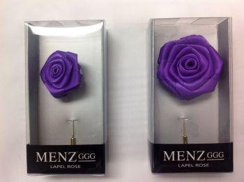 Rose Lapel Flower -Purple RLFBOX-PURPLE
