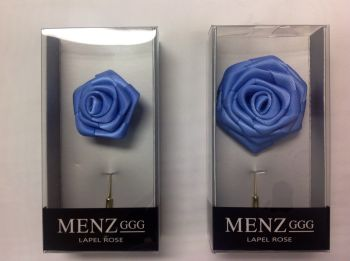 Rose Lapel Flower -Pwd Blue RLFBOX-PWDBLUE