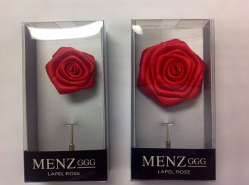 Rose Lapel Flower -Red RLFBOX-RED