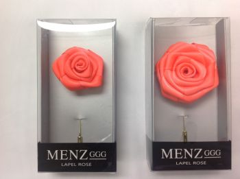 Rose Lapel Flower -Salmon #RLFBOX-SALMON