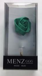 Lapel Rose Bud Emerald LRBUDEmerald